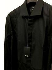 Camicie classiche da uomo neri in cotone
