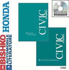 2003 2004 2005 Honda Civic Hybrid Service Repair Manual DVD w/ 03-05 ETM manual