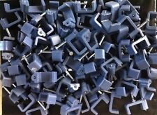 100 x 14mm Flat Gray Cable Clips