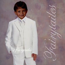 Communion Boy formal white suit Size 4,5,6,7,8,10,12,14