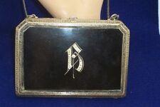 Art Deco Sovereign Case Compact Purse Monogram B