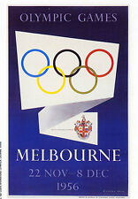 OLYMPIC GAMES 1956 Melbourne, Australia.  Card Issued by MARS (1991)
