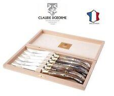coltelli bistecca Laguiole manico corno biondo (chiaro) Claude Dozorme