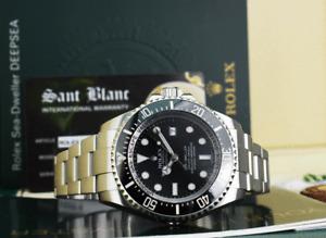 ROLEX 44mm Stainless Steel Deepsea Sea Dweller Black Dial 116660 SANT BLANC