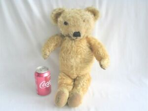 Vintage Large MERRYTHOUGHT TEDDY BEAR with Button in Ear