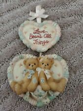 "Cherished Teddies hanging plaque ""Love Bears All Things� Enesco 1996"
