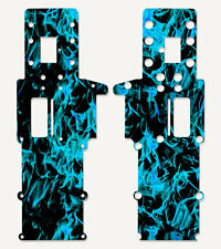 Traxxas Nitro Sport Chassis Plate Protector Kit Light Blue Flames! #TRA4530