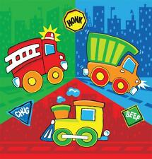 LUNCH NAPKINS X 12 CONSTRUCTION PALS TABLEWARE TIPPER FIRE ENGINE TRAIN BIRTHDAY