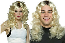 Anita Touch-Up Wig Long Blonde Curls Womens Mens New Charlies Angels 70s 80s