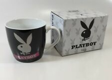 PLAYBOY BLACK SQUAT COFFEE MUG IN GIFT BOX - PINK HYPNO