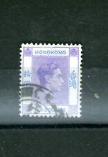 Hong Kong/1938 To 1952 $10 Violet/ Blue -Used/Hinged Cv $130+