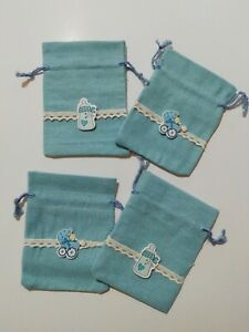 25 sacchetti porta confetti azzurri bomboniere battesimo nascita sweet table