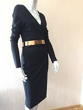 New $2895 Gucci Dresses Size L ( S-M US ) Black Made In Italy
