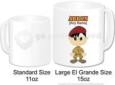 Personalised Army Soldier Camouflage Cadet Coffee Large Gift Mug 15oz (Design 3)