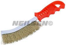 Slim Hand Wire Brush with Plastic Handle