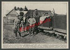 Kaiserjäger K.u.K. Russisch-Polen Borzymow Feldbahn Schmalspur Nachschub 1915!!