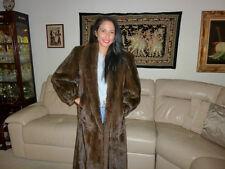 $7K Beverly Hills EMBA LUNARAINE RARE QUALITY MINK DARK BROWN FULL LENGTH COAT