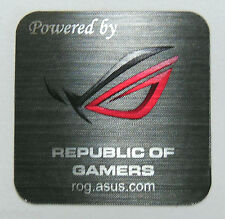 Powered by REPUBLIC OF GAMERS Metal Badge 25x 25mm [897]