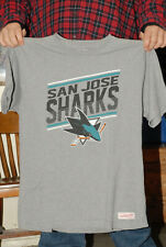 SAN JOSE SHARKS MITCHELL & NESS T SHIRT NHL HIGH GRADE NEAR MINT HOCKEY