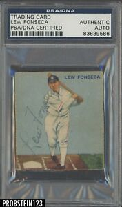 1933 Goudey #43 Lew Fonseca White Sox Signed AUTO PSA/DNA DECEASED 1989
