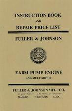 Fuller Amp Johnson Farm Pump Engine Motor Book Manual