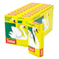 NEW EXTRA SLIM SWAN FILTER TIPS 20 PACKS PER BOX 120 TIPS ( FULL BOX 2400 TIPS)
