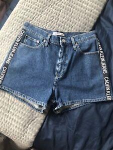 Calvin Klein Womens Denim Shorts W30
