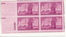 1953 #1027 300th New York City Anniversary Stamp U.S. Postage - Plate Block of 4