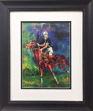 "LeRoy Neiman ""Prince Charles"" New Custom FRAMED ART PRINT Equestrian Horses polo"