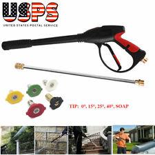 4000PSI High Pressure Washer Sprayer Cleaner Car Wash Gun Wand Lance Nozzle Set