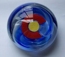 Glass Paperweight featuring the Colorado Emblem
