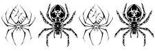 4 TATUAGGI TEMPORANEI TATTOO RAGNI RAGNO SPIDER TRIBALI