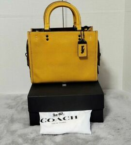 Coach Forever Buy Now Rogue 25 Naturally Dyed Leather BUTTERCUP VERY LIMITED 89
