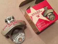 OPEN BOTTLE HERE Beer Bottle Opener Starr X Wall Mounted Zinc Cast Iron W German