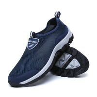 Men Summer Breathable Mesh Slip On Loafers Shoes Comfortable Flats Water Shoes