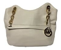 NWOT I Michael Kors Lilly Large Vanilla Tote Bag l Lamb Leather