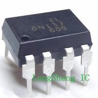 10 PCS EL6N137 DIP-8 6N137 High Speed Optocoupler, 10 Mbd  new