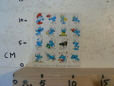 STICKER,DECAL SMURF MINI SHEET WITH STICKERS PEYO 1978 SEPP WAVERY PRODUCTIONS