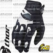 Thor Deflector Gloves White Black Adult XL Size 11 Motocross Enduro Quad ATV
