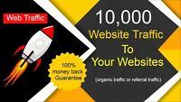 10,000 Real high quality organic website Traffic 100% Real Web Traffic ( SEO )