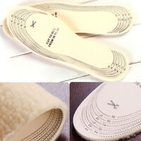 Unisex Men Wemen Winter Warm Soft Wool Winter Shoe Insole Pad Size 36-46 JHJR Dt