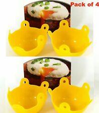 4 x Silicone Egg Poacher Cup Healthy Quick Poaching Pod Pan Poach Cooking