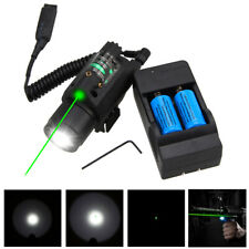 Tactical LED Flashlight Green/Red Dot Lazer Sight Combo Beam Point Hunting Light