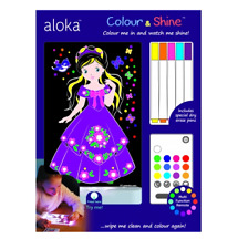 Brand new Aloka colour and shine Princess multi coloured night light & remote