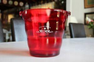 1980s Lucite G. H. Mumm & Cie Champagne Ice Bucket, Cooler