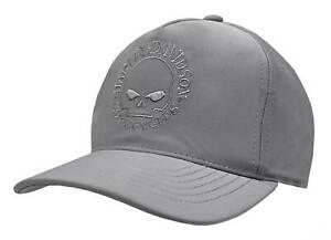 Harley-Davidson Men's Tonal Willie G Skull Logo Snapback Baseball Cap - Gray