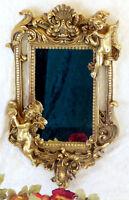 Espejo Barroco de Pared Dorado Marco Antiguo Baño 62 Cm Decoración