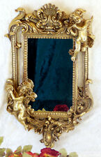 Spiegel Barock Wandspiegel gold Rahmen Antik Badspiegel 62 cm Deko Engel Putten