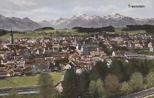 Traunstein con panorama Alpi AK ALT Baviera 1709298