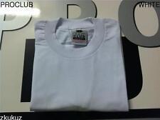 3 NEW PROCLUB HEAVY WEIGHT T-SHIRT WHITE PLAIN PRO CLUB BLANK S-7XL 3PC